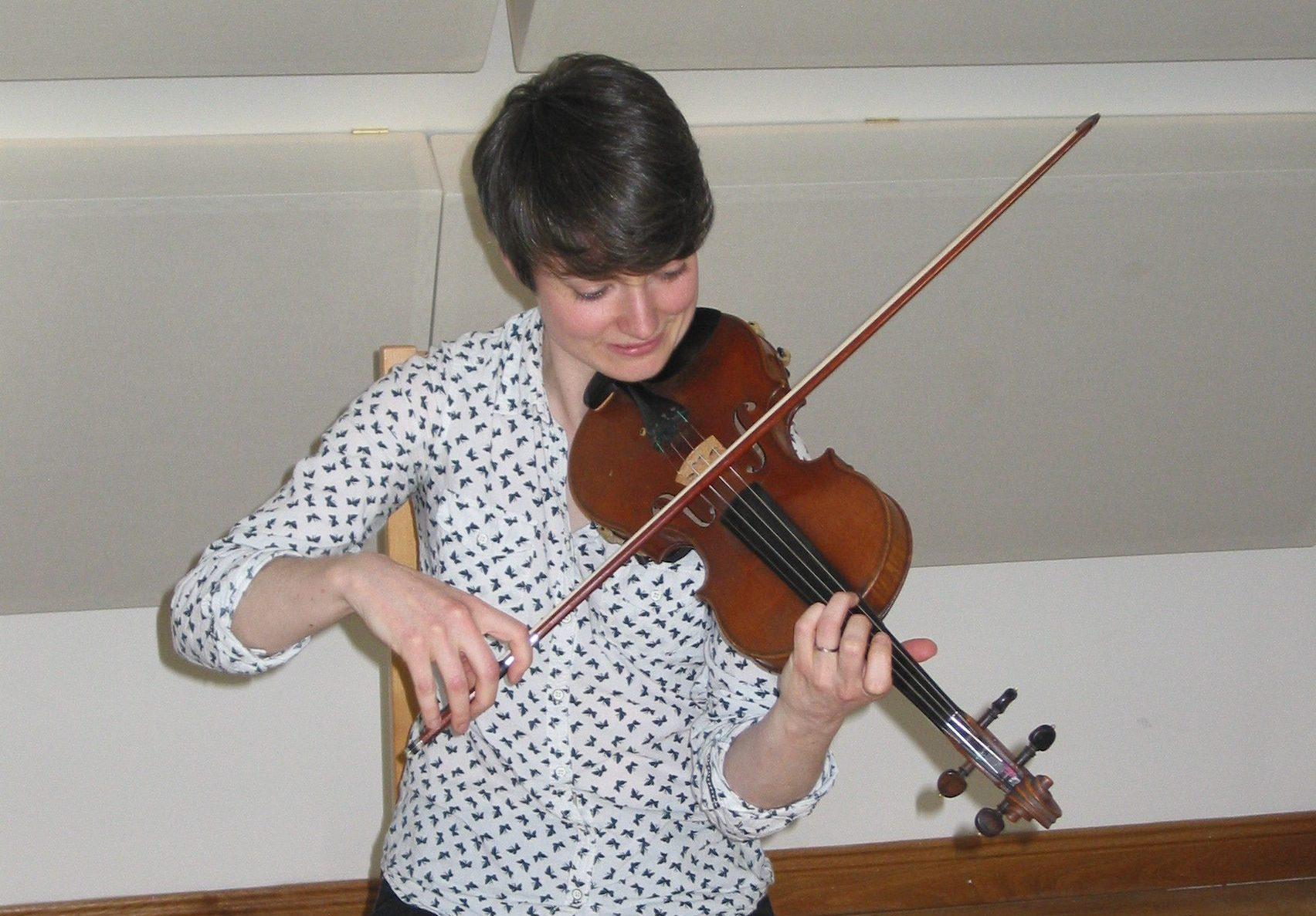 Recording Katie Rush, Violin / Fiddle