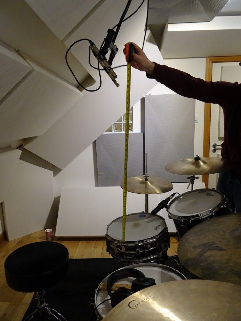 Drum overhead mic height