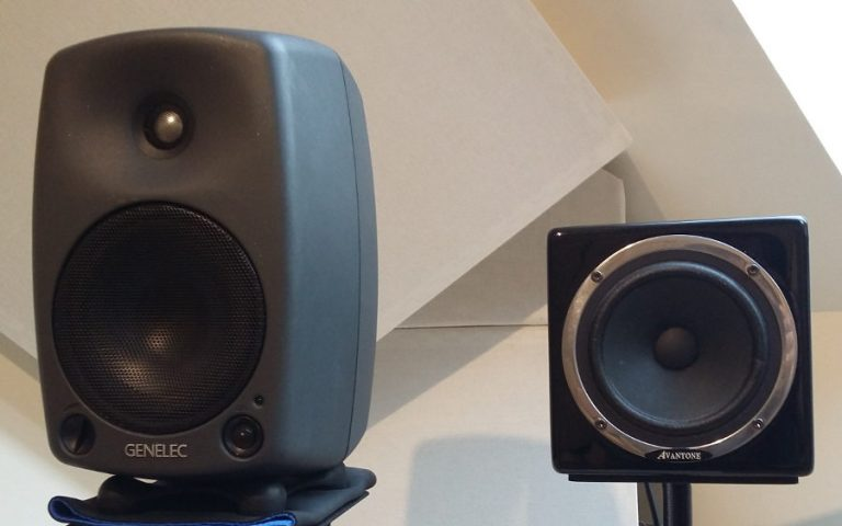 Genelec 8030A and Avantone Mixcube studio monitors